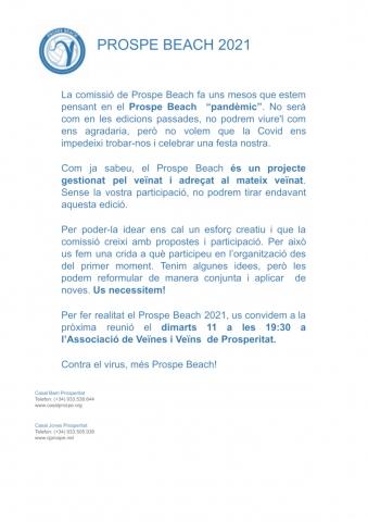 Comunicat Prospe Beach 21